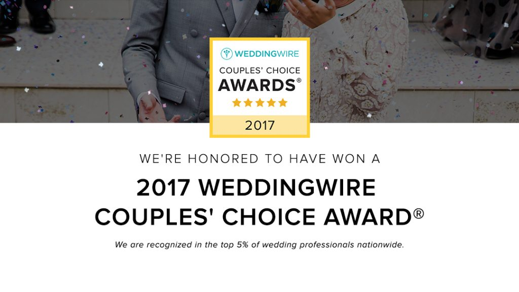 WeddingWire Couples Choice Award Winner-2017